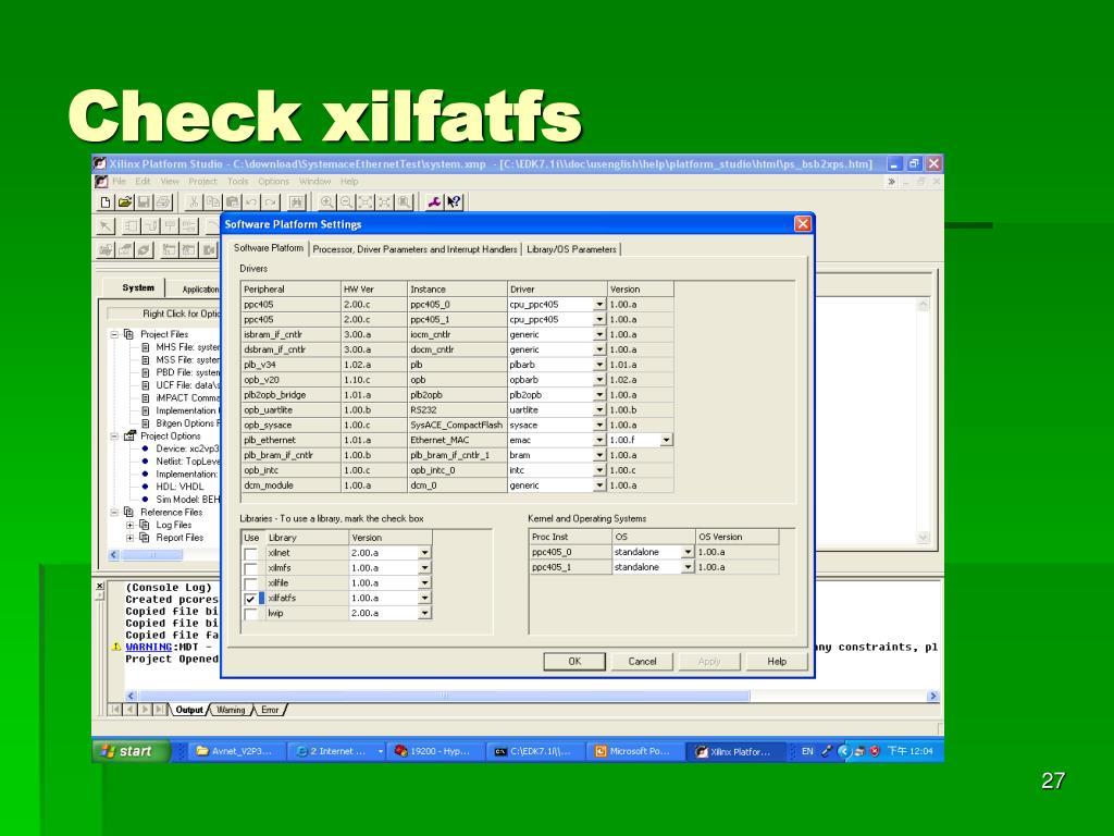Check xilfatfs