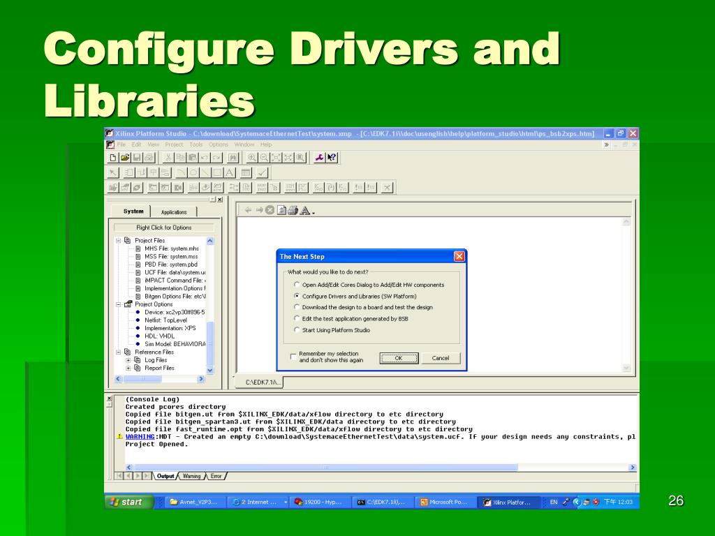 Configure Drivers and Libraries