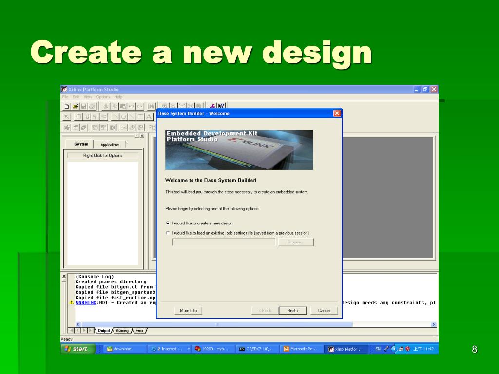 Create a new design