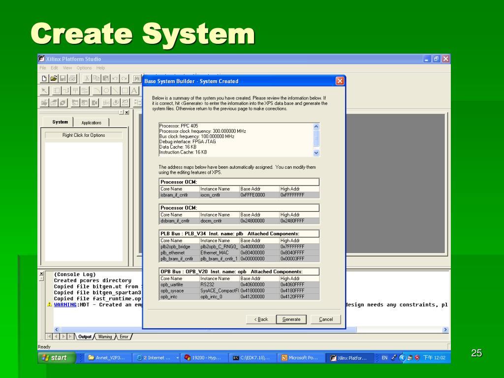Create System