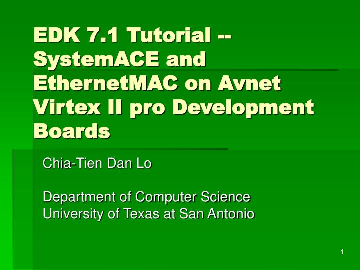 Edk 7 1 tutorial systemace and ethernetmac on avnet virtex ii pro development boards