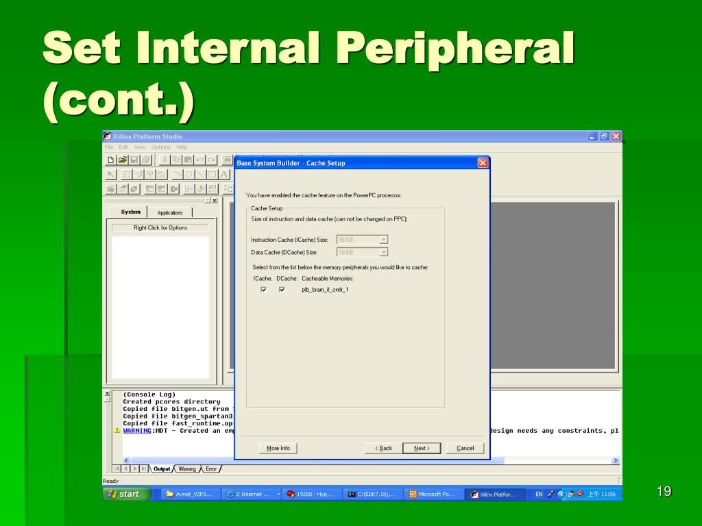 Set Internal Peripheral (cont.)