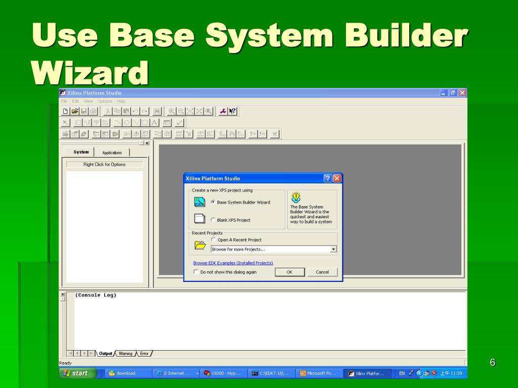 Use Base System Builder Wizard