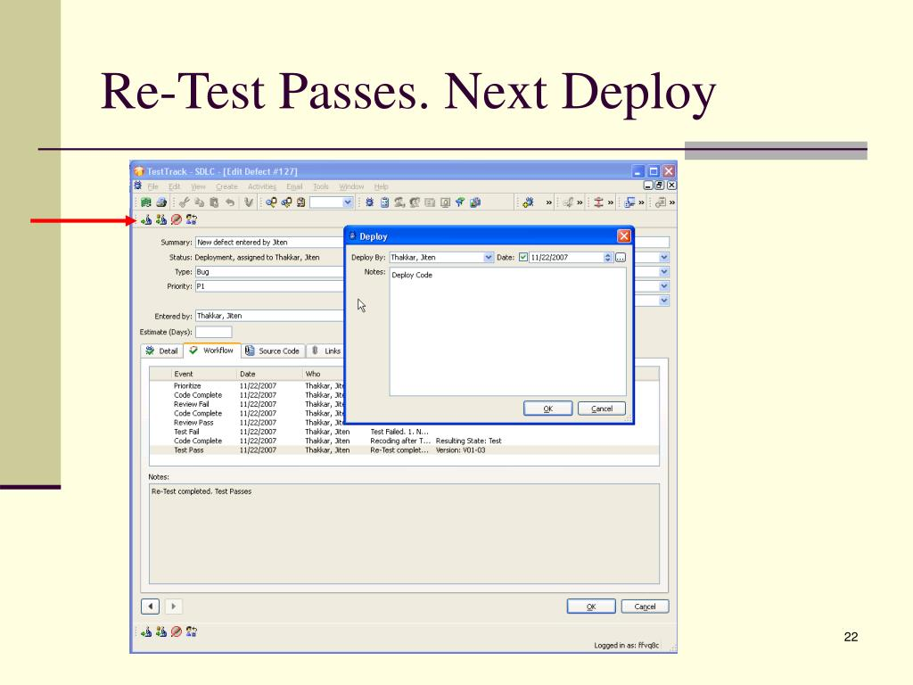 Re-Test Passes. Next Deploy