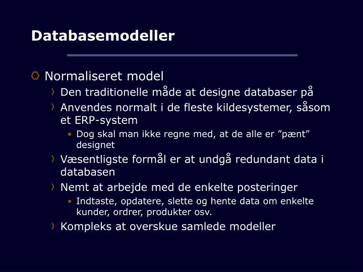 Databasemodeller