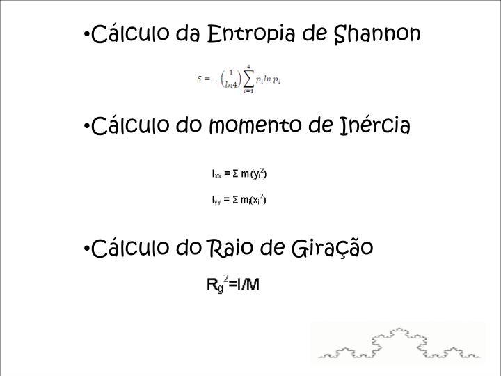 Cálculo da Entropia de Shannon