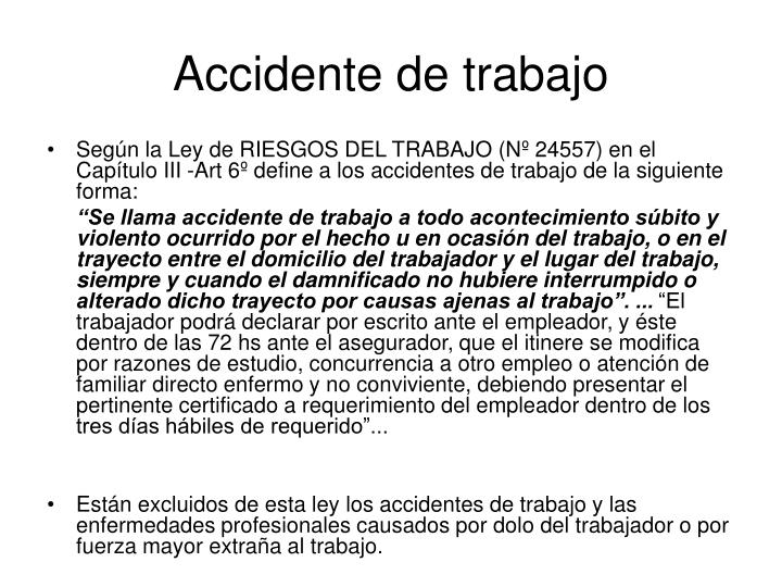 Accidente de trabajo