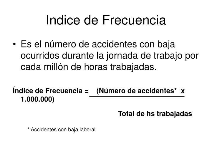 Indice de Frecuencia