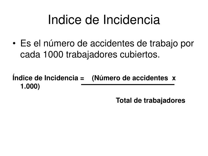 Indice de Incidencia