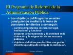 el programa de reforma de la administraci n p blica1