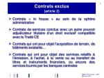 contrats exclus article 2