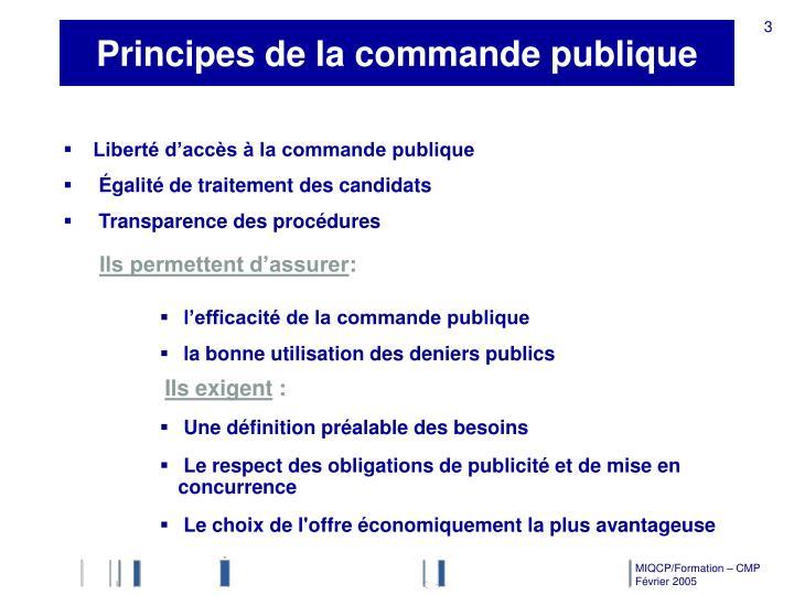 Principes de la commande publique