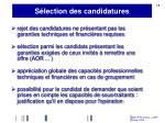 s lection des candidatures1