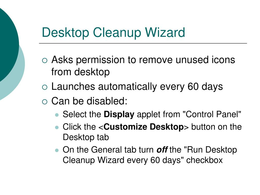 Desktop Cleanup Wizard