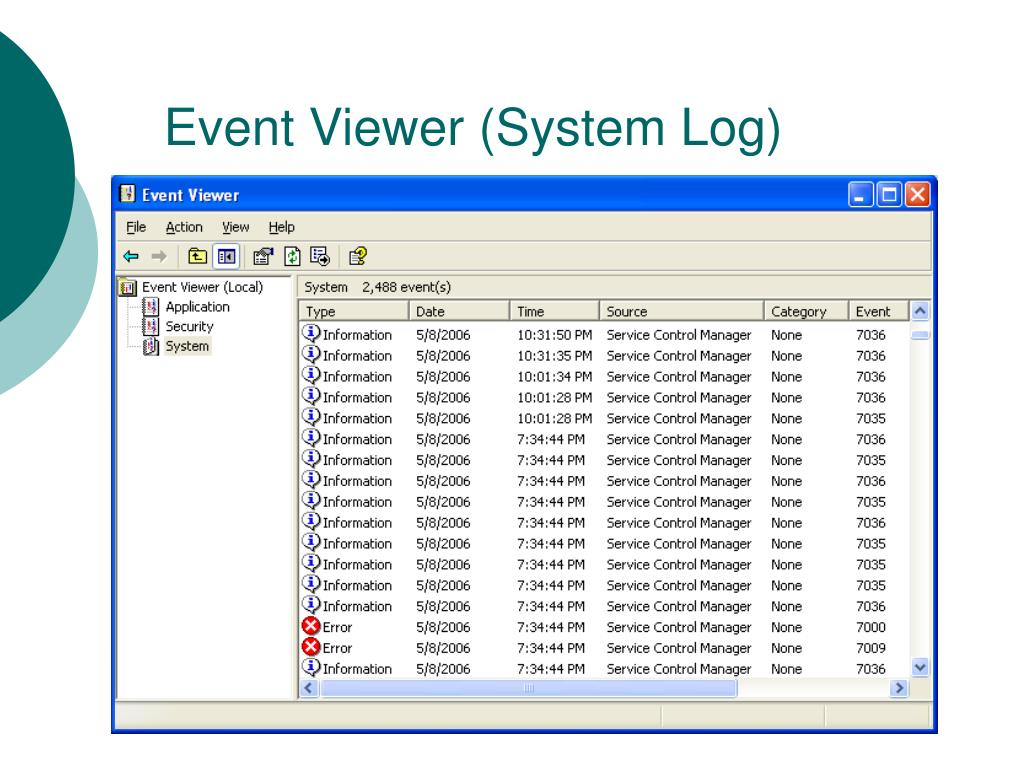 Event Viewer (System Log)