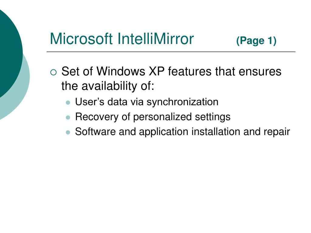 Microsoft IntelliMirror