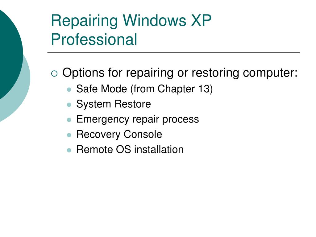 Repairing Windows XP Professional