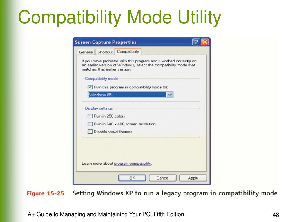 Compatibility Mode Utility