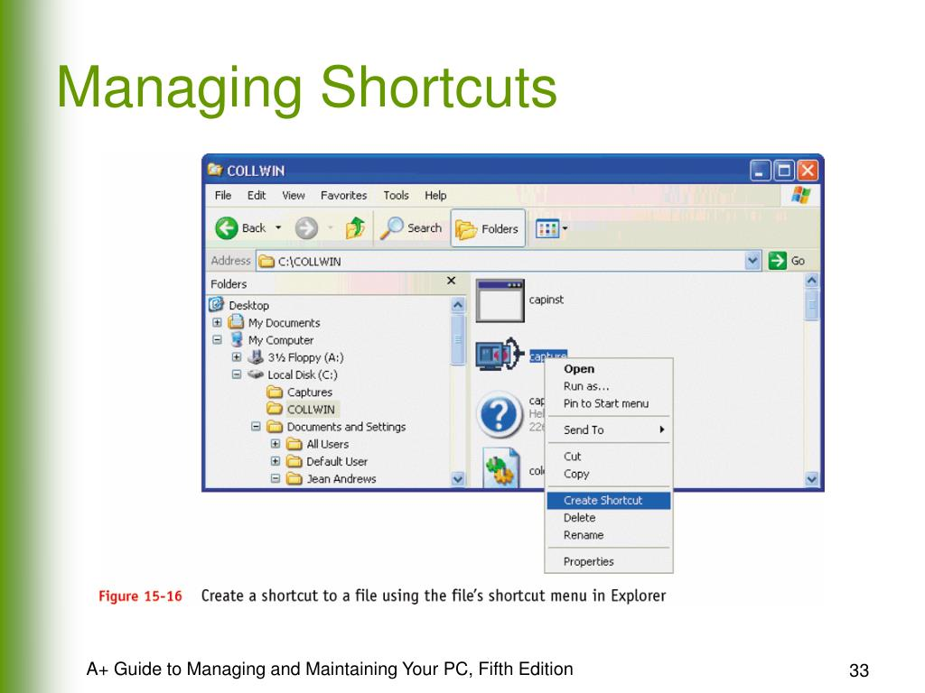 Managing Shortcuts