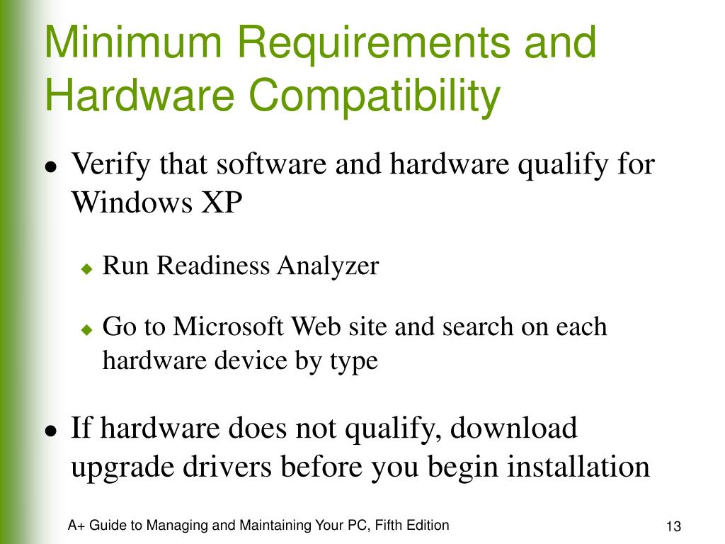 Minimum Requirements and Hardware Compatibility