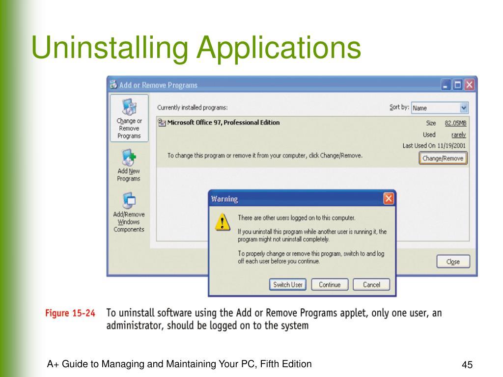 Uninstalling Applications