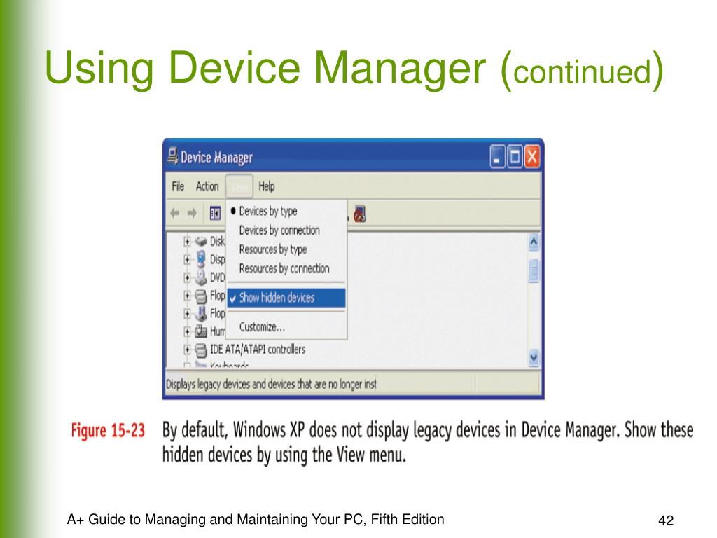 Using Device Manager (