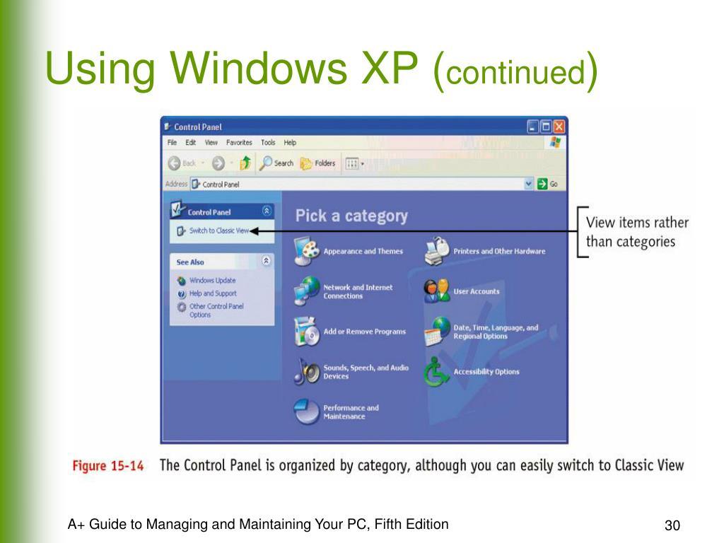 Using Windows XP (