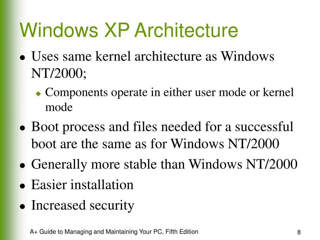 Windows XP Architecture