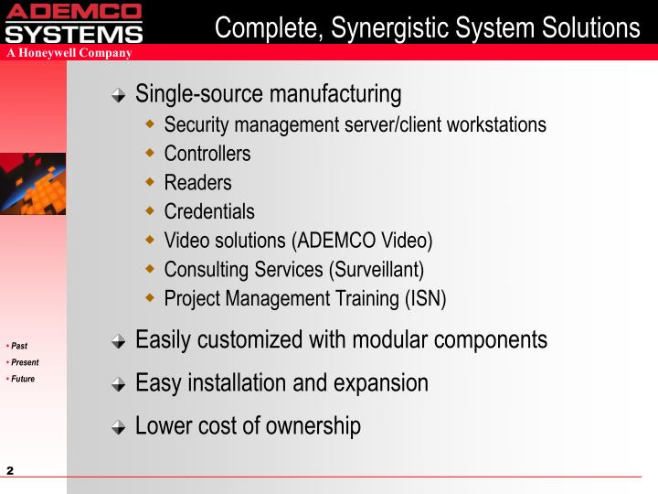 Complete synergistic system solutions