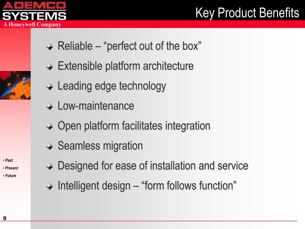 Key Product Benefits