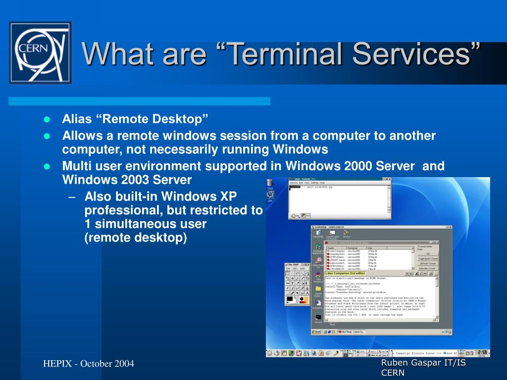 "What are ""Terminal Services"""
