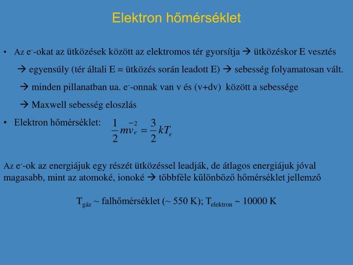 Elektron hőmérséklet