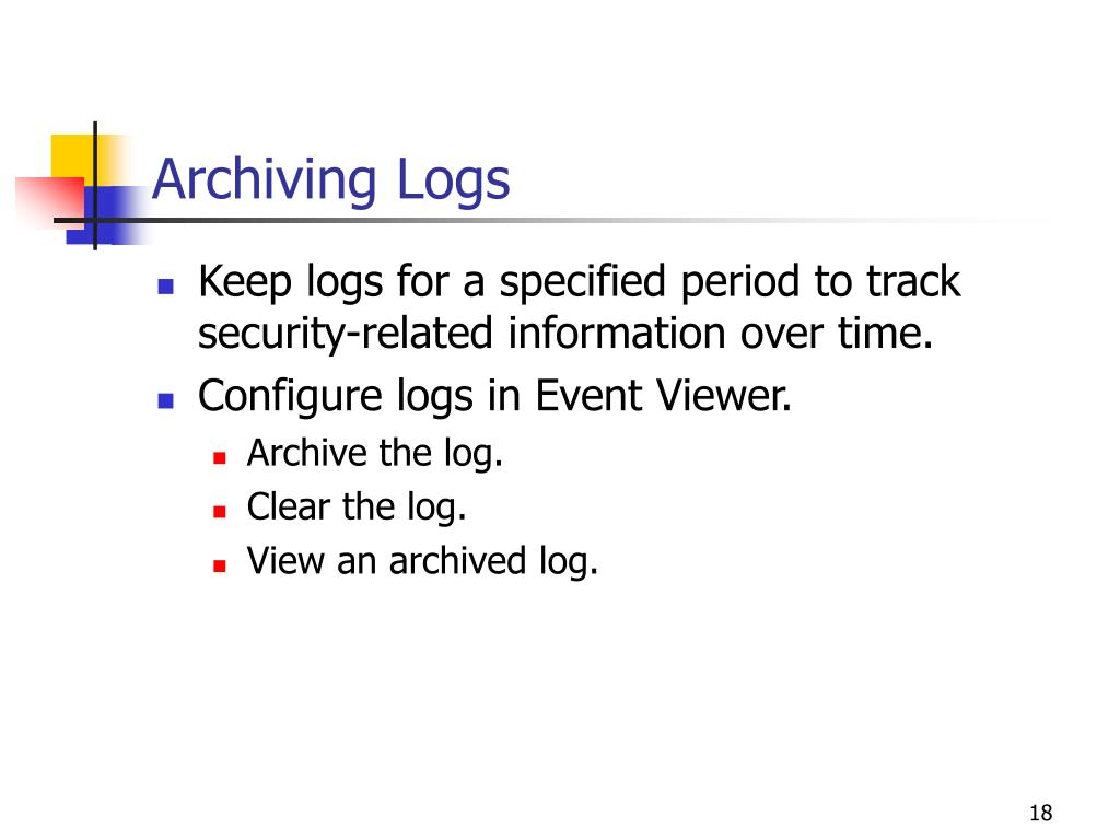 Archiving Logs