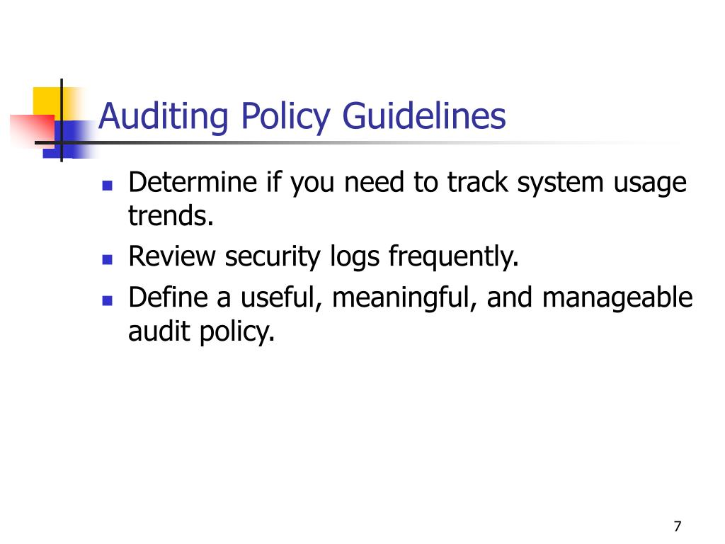 Auditing Policy Guidelines