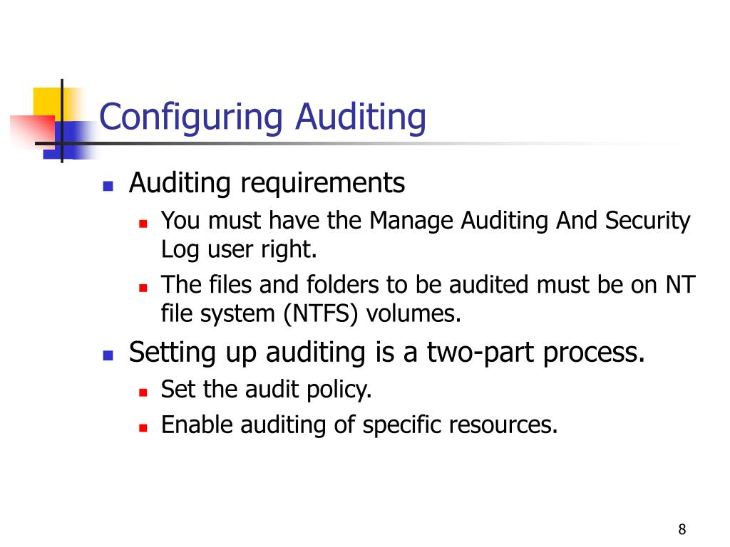 Configuring Auditing