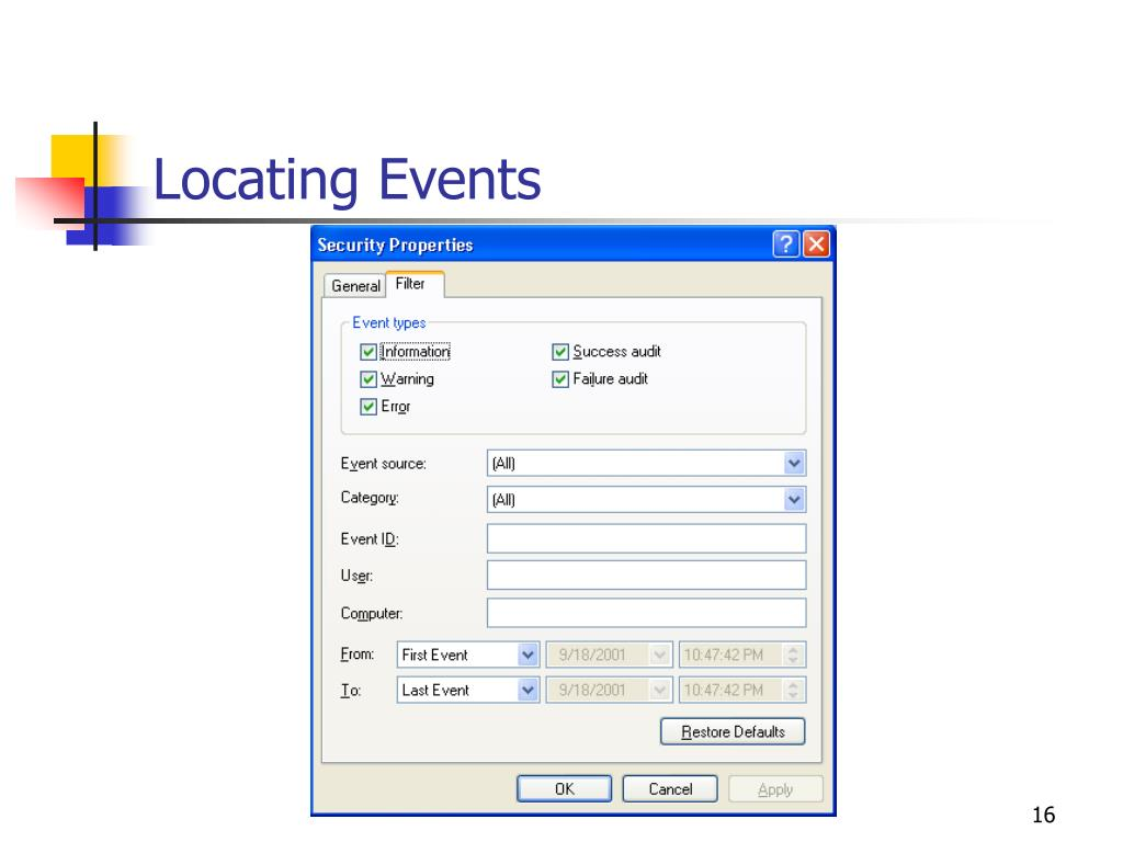 Locating Events