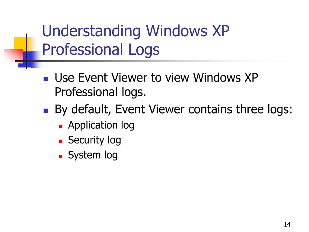 Understanding Windows XP Professional Logs