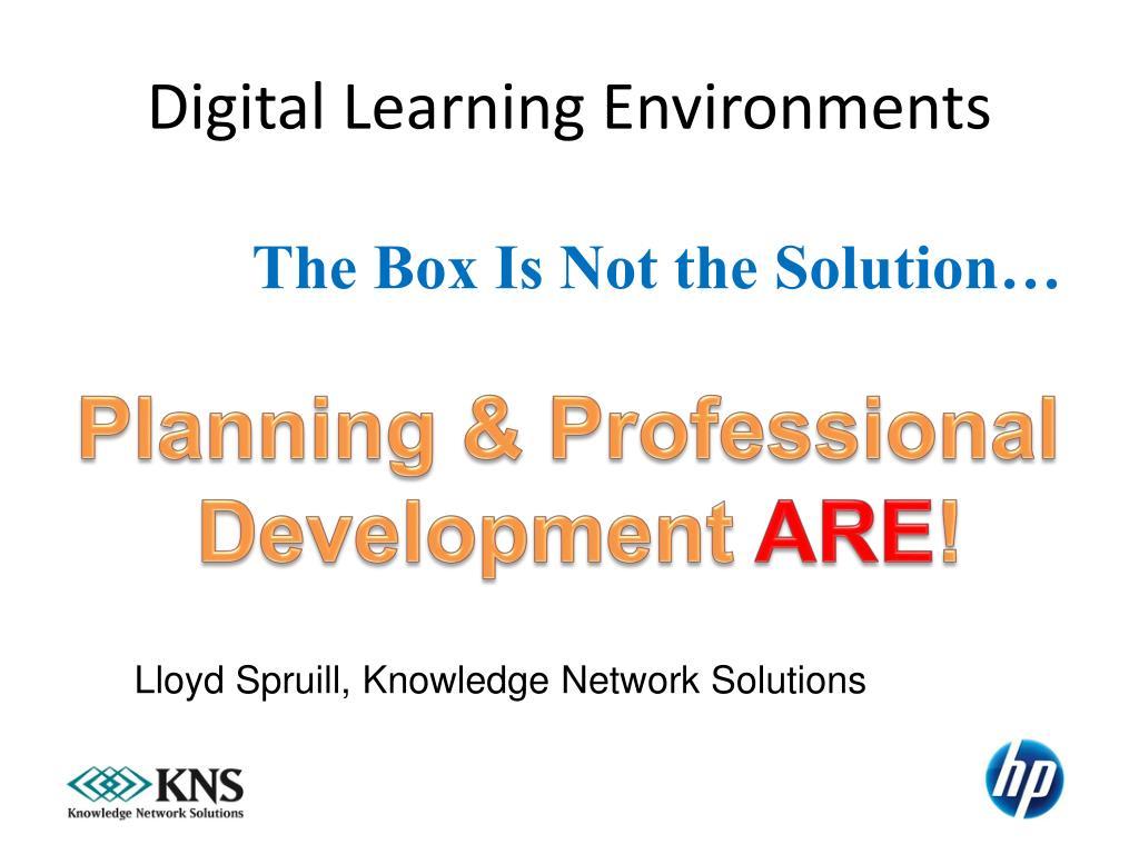 Digital Learning Environments