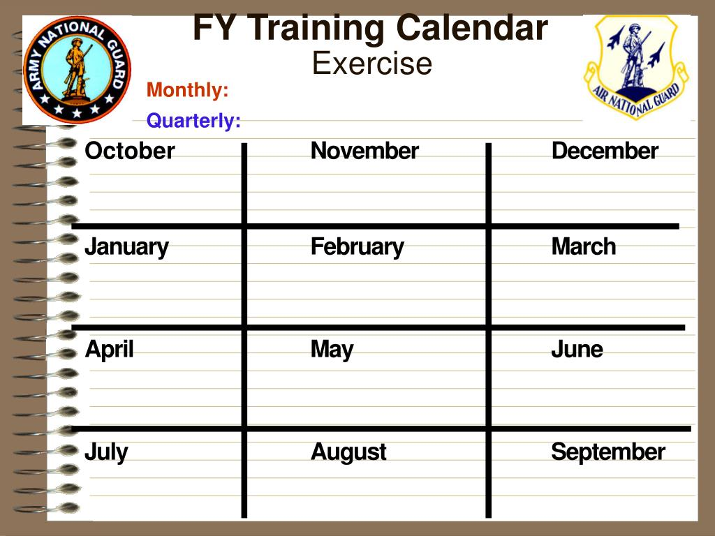 FY Training Calendar