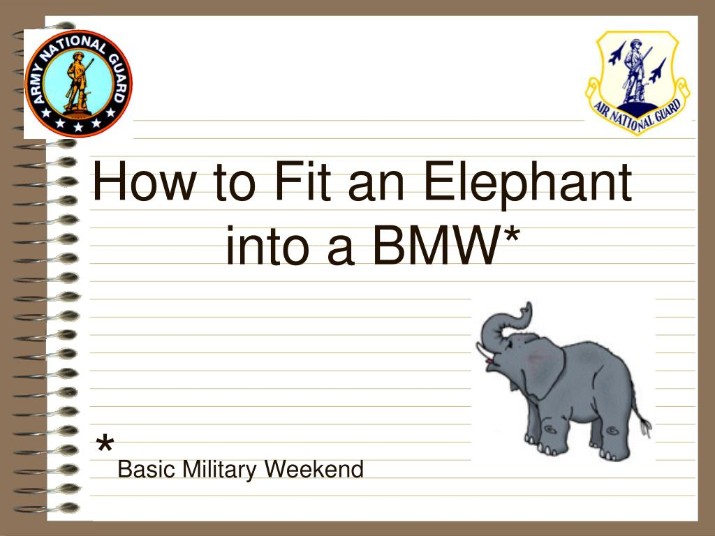 How to Fit an Elephant