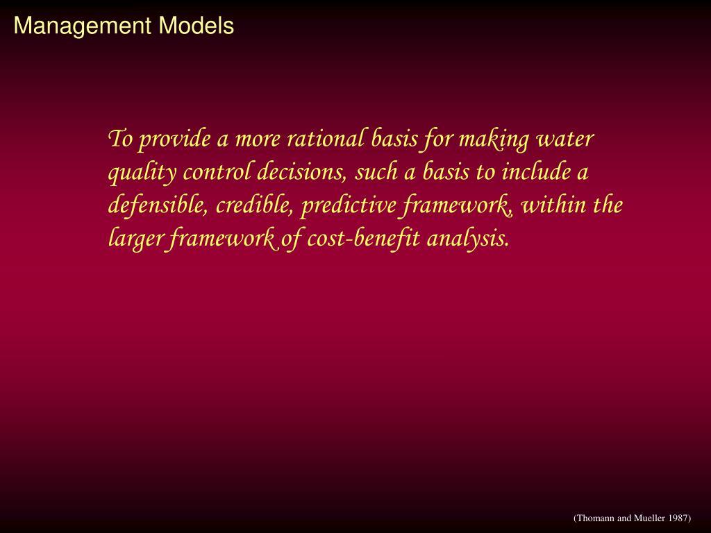 Management Models