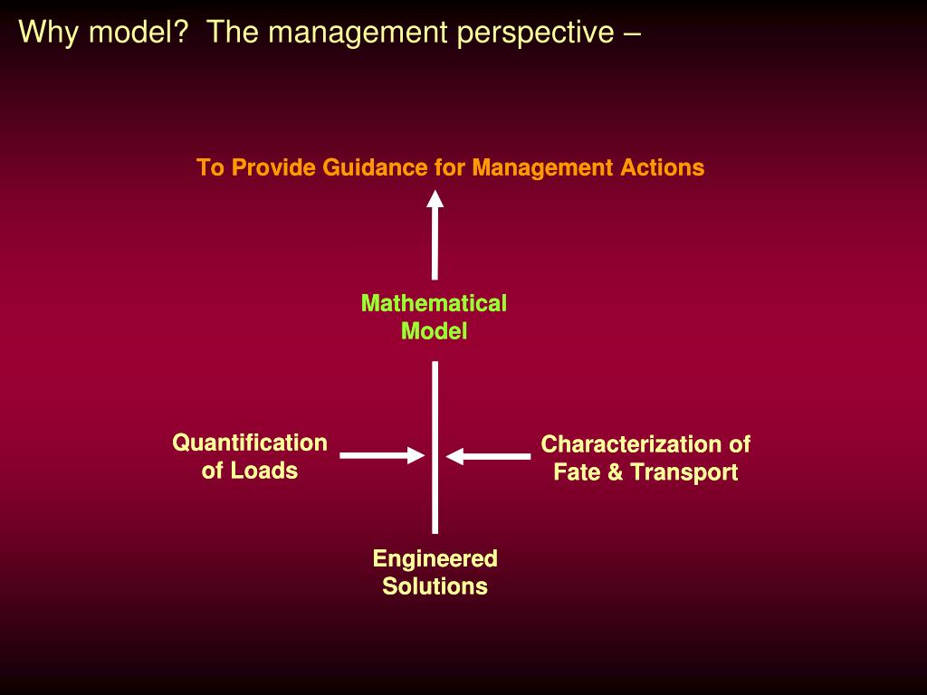 Why model?  The management perspective –