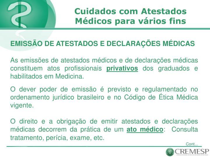 Cuidados com Atestados Médicos para vários fins