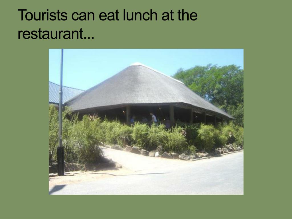 Tourists can eat lunch at the restaurant...