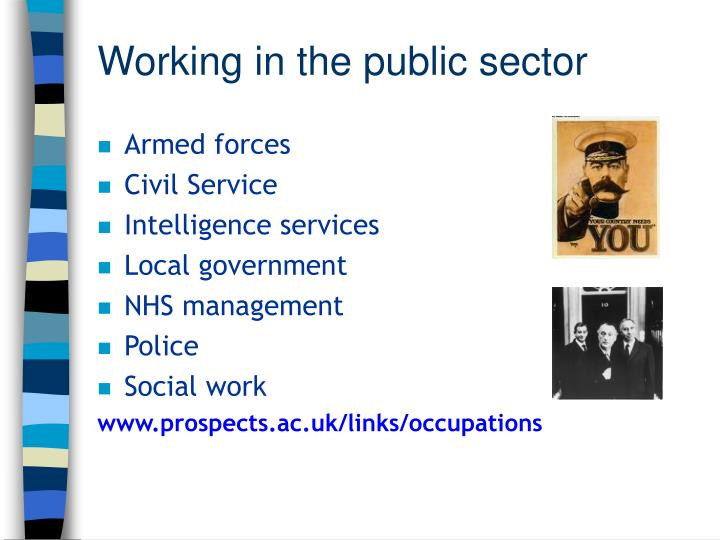 Working in the public sector