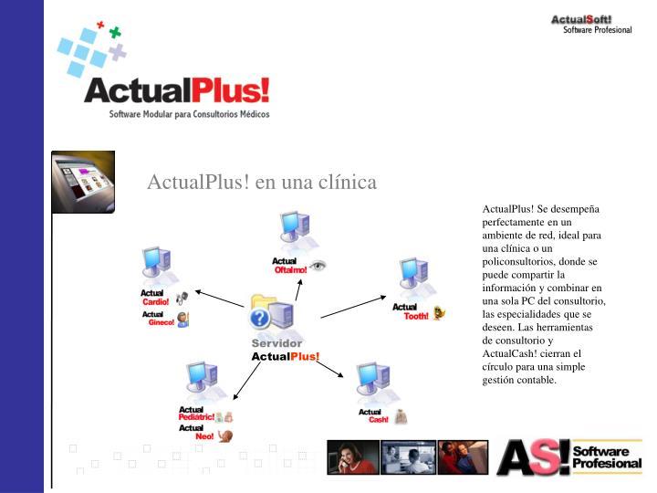 ActualPlus! en una clínica