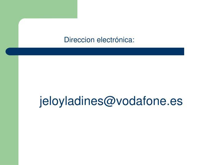 Direccion electrónica: