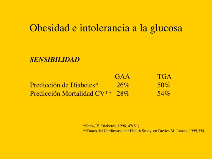Obesidad e intolerancia a la glucosa