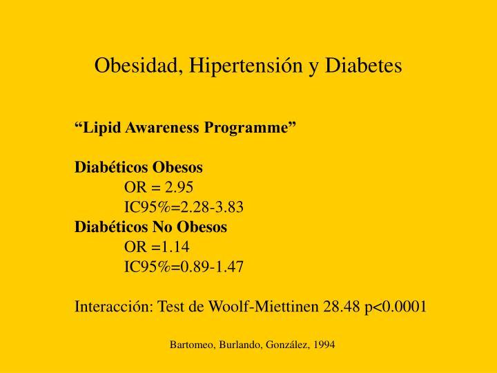 Obesidad, Hipertensión y Diabetes