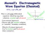 maxwell s electromagnetic wave equation classical